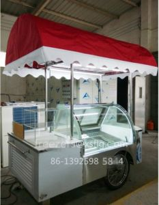 Italian Ice Cream Showcase /Gelato Carts Trike Tricycle Bycicle Wheeler Freezers for Sale pictures & photos
