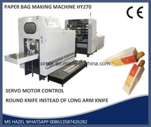 Sharp Bottom Paper Bag Making Machine V Bottom Paper Bag Making Machine with Printing in Line pictures & photos