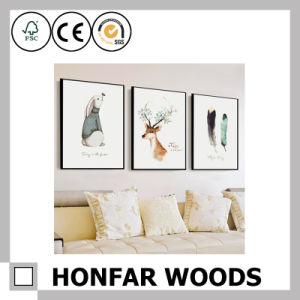 Natural Solid Wood Painting Poster Frame for Hotel Lobby Decoration pictures & photos