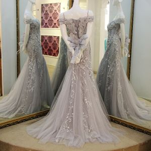 Illusion Evening Dresses Lace Tulle Formal Gowns Mother Dress B24 pictures & photos
