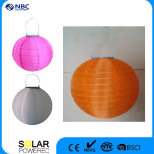Colored Chinese Globe Solar Lantern pictures & photos