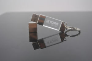 Portable Crystal USB Disk 2.0 with Keychain pictures & photos