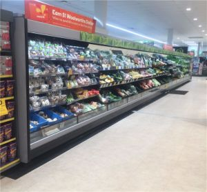 Customize Different Styles Multideck Open Refrigerator Showcase for Supermarket pictures & photos