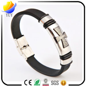 2017 Hot Selling Silicone and Metal Bracelet and Customized Sports Bracelet for Promotional Gifts pictures & photos
