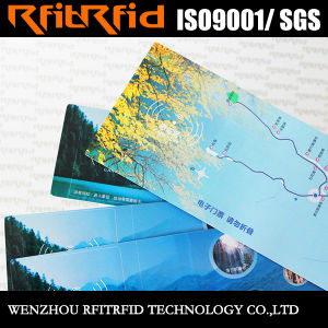 13.56MHz Glossy Paper RFID Tag Ticket for Vehicle