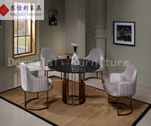 Modern Glass Dining Table and Dining Chairs pictures & photos