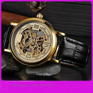 Fashionable Handsome Automatic Male Watch with Genuine Leather Strap Fs615 pictures & photos