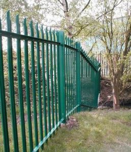 PVC Coated Palisade Fencing, Plastic Coated Palisade Fencing+Gates pictures & photos