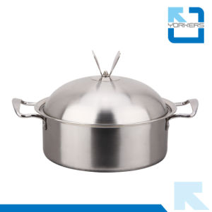 stainless Steel Soup Pot with Double Bottom pictures & photos