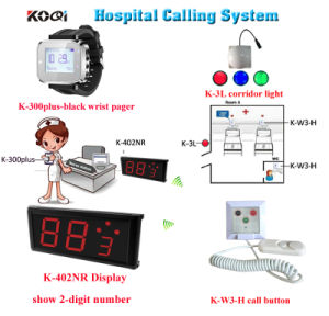 Wireless Nurse Call System with Watch Ding Dong Hospital Bell Set with Koqi Brand pictures & photos