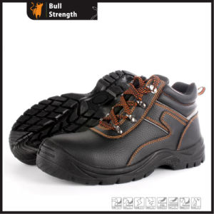 Hot Sell Black Leather Safety Shoes (sn1667) pictures & photos