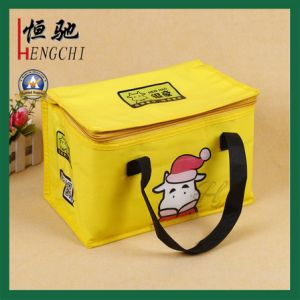 Non-Woven Promotion Reusable Food Cool Chiller Bag pictures & photos