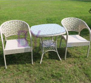 Small Dining Set for Outdoor / Dining Room with PE Rattan pictures & photos