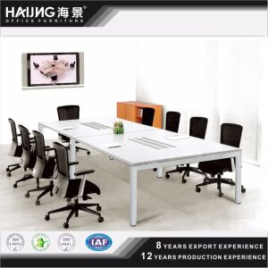 Haijing Wooden Furniture Wooden Steel Frame Conference Table/Desk