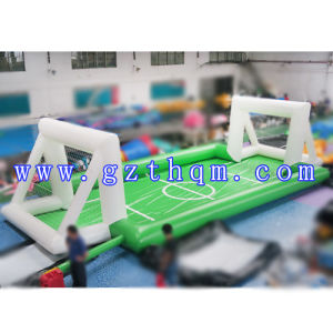 Inflatable Sports Games Football Pitch Soccer Pitch Inflatable Soap Football Field/Football Cricket Field pictures & photos