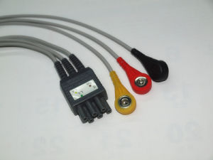 Colin Bp-306/Bp88 IEC 6pin 3 Leadwireset ECG Cable pictures & photos