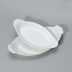 Latest New Ceramic Tapas Serving Oval Plates with Ears