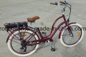 Nostalgia Cruiser Style 250W/350W/500W Lady Electric Bicycle/Electric Bike/Pedelec/Step Through E Bike/E Bicycle with Balloon Tire 26X2.35 pictures & photos