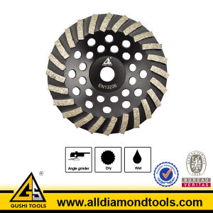 Brazed Turbo Diamond Grinding Wheel for Concrete and Stone pictures & photos