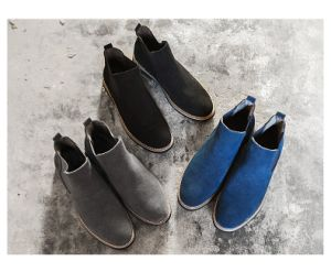 Genuine Leather Men Laceless Boots Shoes pictures & photos