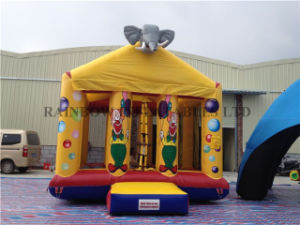 Cute Inflatable Clown Bouncer Elephant House for Kids Fun Park pictures & photos