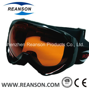 Reanson High Quality Anti-Fog Double Lenses Snow Mobile Goggles pictures & photos