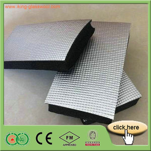 High Quality Insulation Foil-Glass Cloth Facing Rubber Foam Blanket pictures & photos