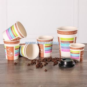 Disposable Single Wall Coffee Paper Cup with Lids pictures & photos