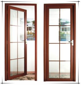 Aluminum Hinged/French Door with Grille pictures & photos