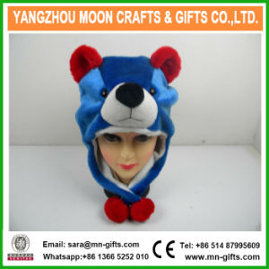 China Wholesale Custom Earflap Winter Faux Fur Mixed Colour Plush Animal Hat pictures & photos