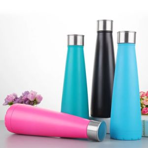 450ml Stainless Steel Vacuum Sport Water Bottle with Metal Lid (SH-ST22) pictures & photos