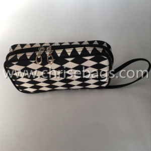 Cotton with PVC Laminating Cosmetic Bag pictures & photos