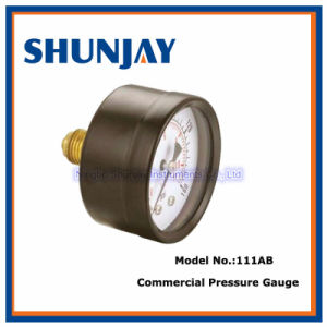 111ab 63mm Black Steel Manometer Commercial Pressure Gauge