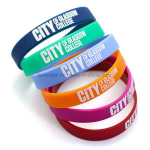 Custom Colourful UK Printing Silicone Wristband pictures & photos