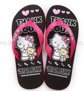 Custom Print EVA Home Women Slippers Flip Flop pictures & photos