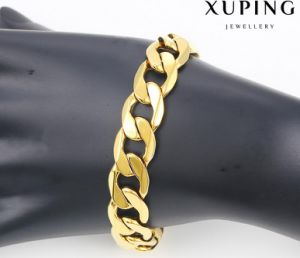 70736 Fashion Cool 24k Gold Plated Jewelry Men Bracelet in Metal Alloy pictures & photos