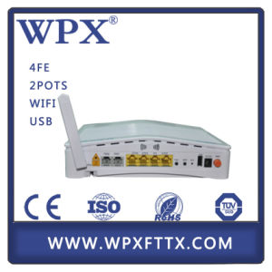 Wpx-EU9044 Gpon Ont ONU with 4ge 2VoIP WiFi FTTX pictures & photos