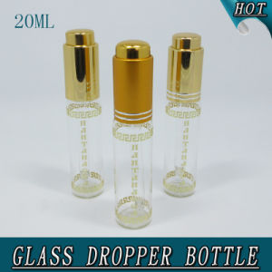 20ml Slim Cylinder Clear Cosmetic Glass Dropper Bottle Pipette pictures & photos