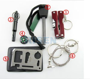 6 in 1 survival outdoor and camping kit pictures & photos