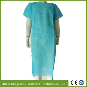 PP Non-Woven Patient Gown with Short Sleeves pictures & photos