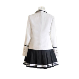 Black British High School Uniforms of Three-Piece (Jacket+Pants/Skirt+Shirt) pictures & photos