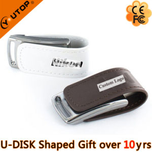 Hot Custom Logo Leather Gift USB Pendrive/Stick (YT-5116-01) pictures & photos
