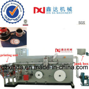 Automatic Printing Cup Tray Cutting Embossed Tissue Paper Coaster Machine pictures & photos