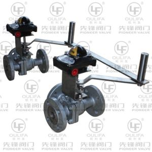 Duplex 3-Way Flanged Ball Valve with Wafer Type pictures & photos
