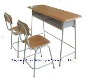 Werzalit Double Student Desk for School Furniture Jh-8504