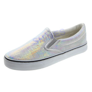 Snake Patent PU Slip on Casual Vulcanized Shoes for Women