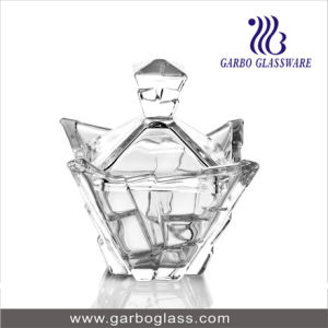 New Design Glass Cand Pot with Cover pictures & photos