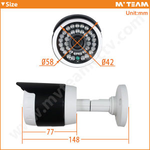 Mini Size Waterproof IP66 30m IR HD CCTV Security Bullet Camera (MVT-AH15) pictures & photos