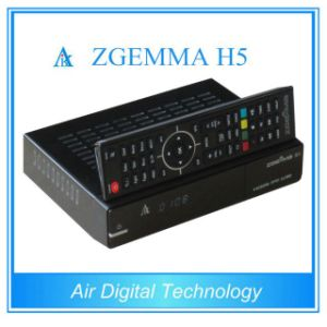 Full Channels Cable Box & Receiver Zgemma H5 High CPU Dual Core Linux OS E2 Hevc/H. 265 DVB-S2+ Hybrid DVB-T2/C Twin Tuners pictures & photos
