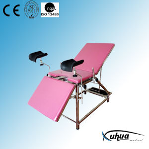 Stainless Steel Hospital Gynecological Bed with Footstep (XH-G-4) pictures & photos
